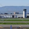 The Airport Air Traffic Control Tower in San Jose, California.