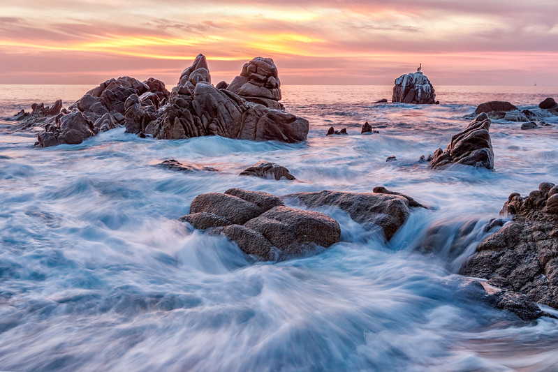 The Sea of Cortez, sunrise and high tide