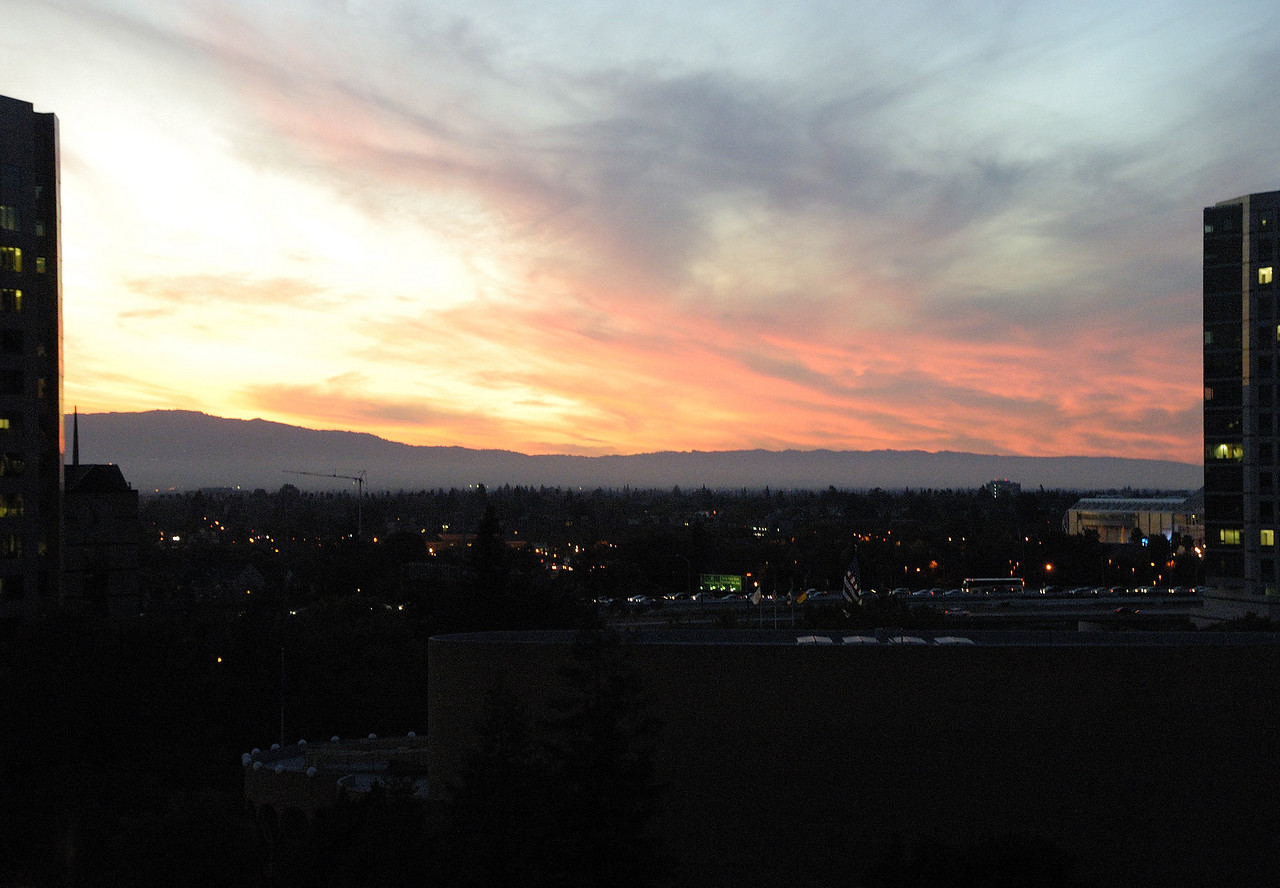 Ran out of light after I got to San Jose so I went to drop off my camera in my room to get some dinner. I looked out the window and saw this. A very nice way to end the day.