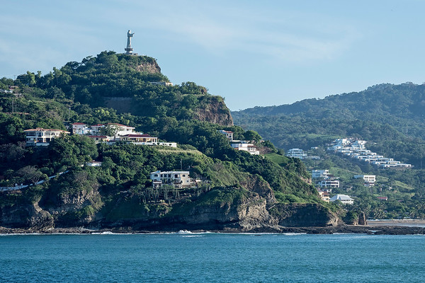 """Christ of Mercy"" 25-metre statue overlooking the bay"
