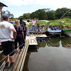 Visitors and tourist wait to board a boat for a lake tour in Nicaragua.