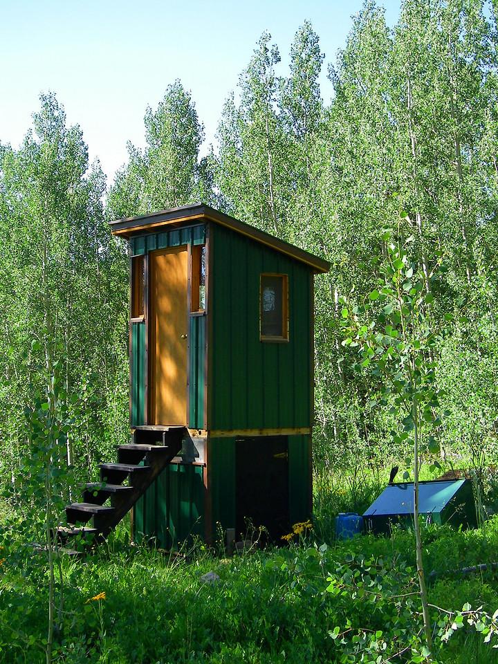 Day 6 Geyser Pass Hut Composting Toilet