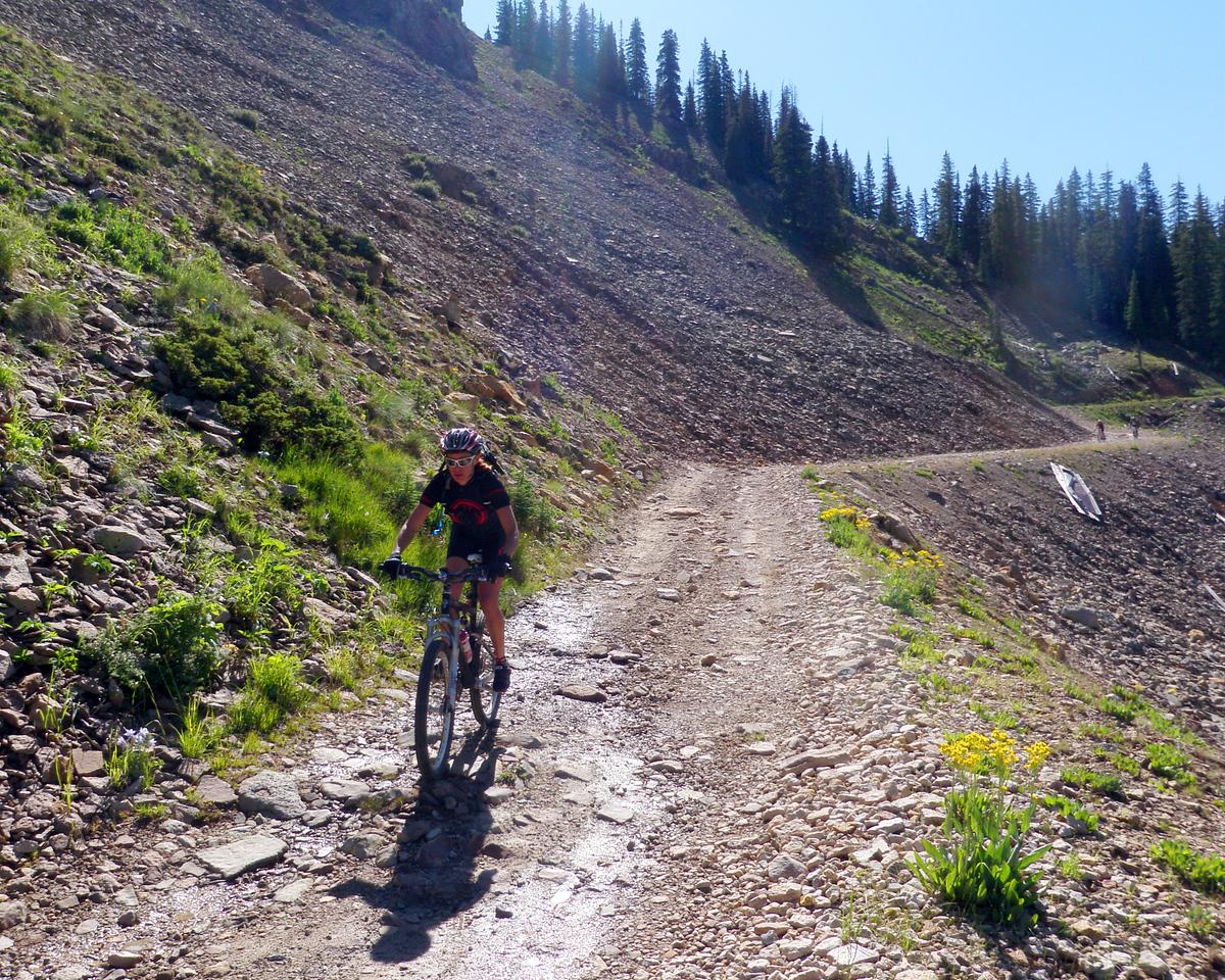 Day 2 Jo Descending Barlow Creek Valley