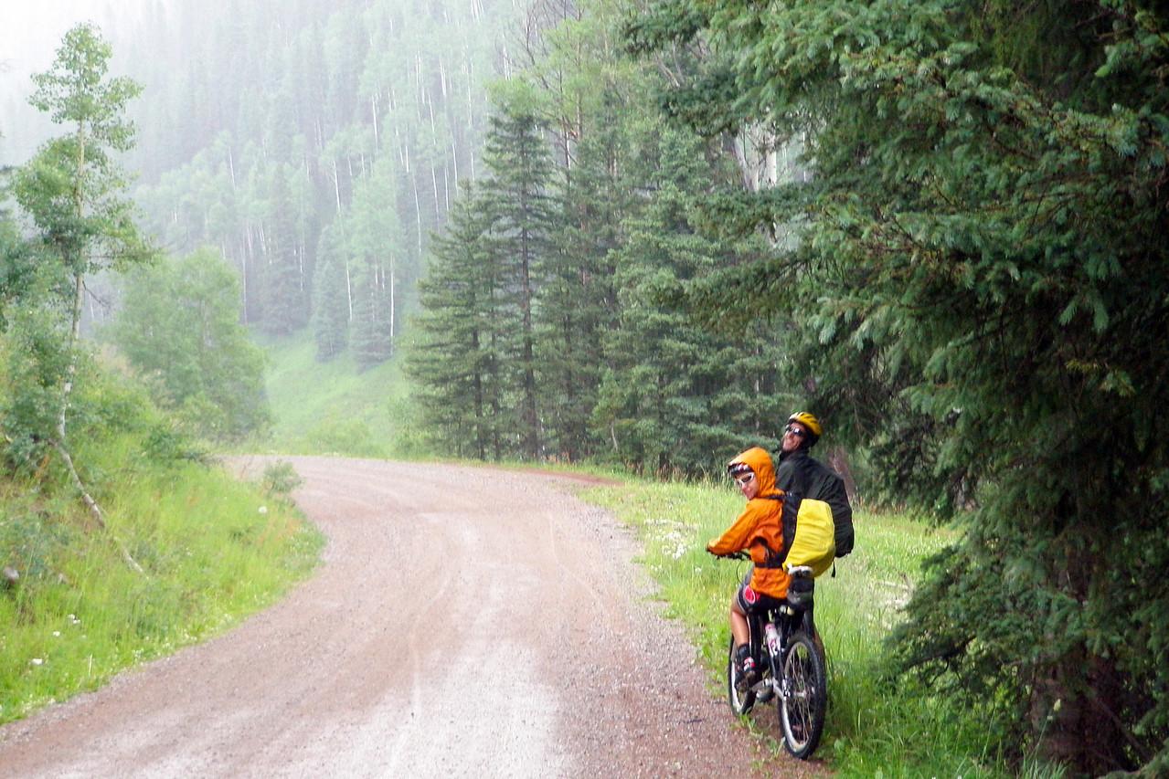 Day 1 Jo & Andrew in the Rain