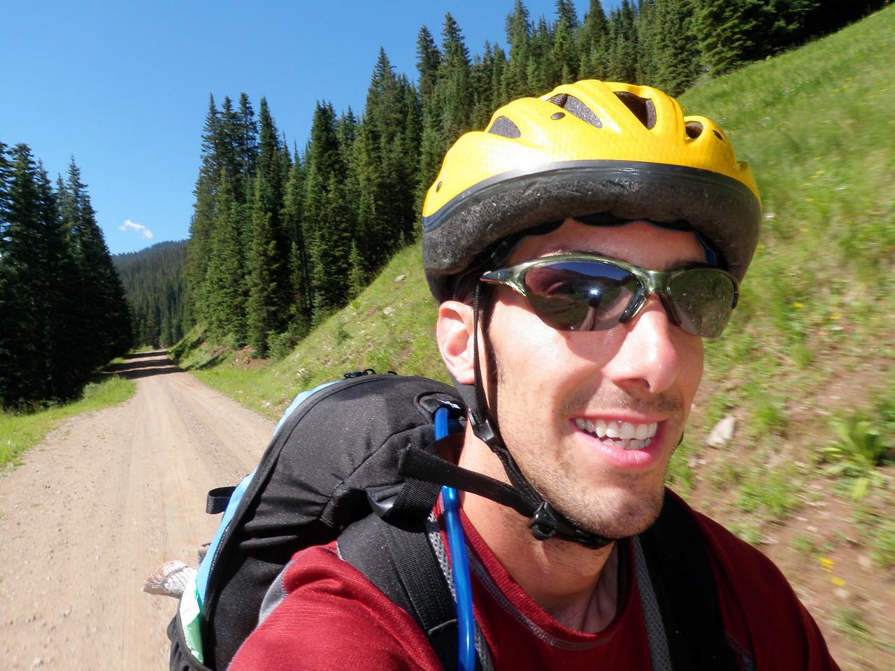 Day 2 Andrew Descending Barlow Creek Valley