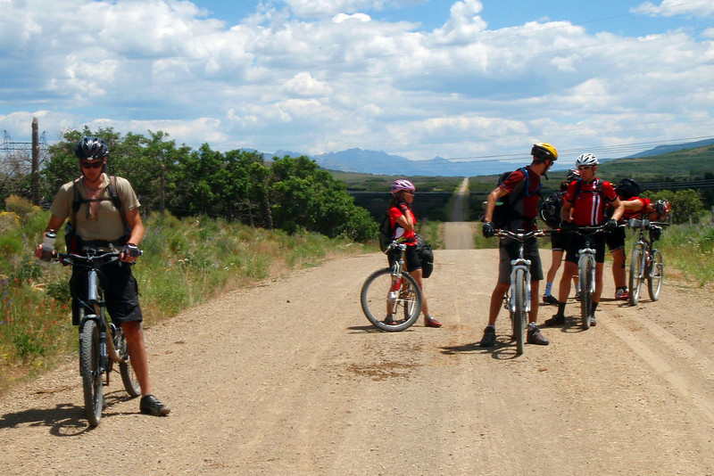 Day 3 Down on the Flats San Miguel Mountains and the Day's Starting Point in the Background