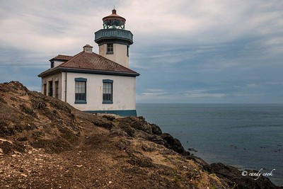 Lighthouse at Lime Kiln Park San Juan Island, Washington
