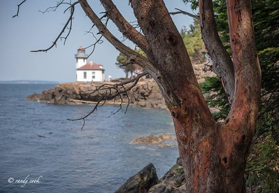 Lighthouse at Lime Kiln Park, San Juan Island, Washington