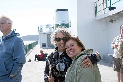 Joyce and Denyse on the Ferry