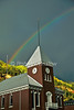 Rainbow over the Court House, Autumn, Telluride, Colorado, USA, North America