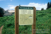 Colorado Trail Sign, Near Kennebec Pass, La Plata Mountains, San Juan National Forest, Colorado, USA, North America