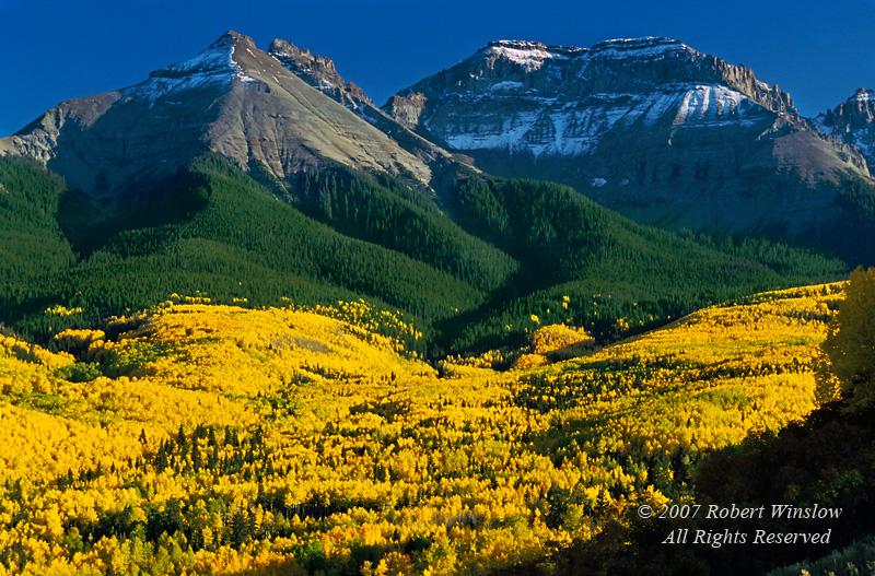 Autumn, Mt. Sneffels Range, San Juan Moutains,Uncompahgre National Forest, Southwest Colorado, USA, North America