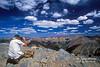 MR, Man Taking a Photograph on a Mountain Peak, San Juan Mountains, Colorado
