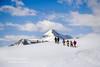 Snowshoers, Engineer Peak in Background, San Juan National Forest, Durango, Colorado