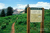 Colorado Trail Sign, La Plata Mountains, San Juan National Forest, Colorado, USA, North America