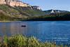 Red Boat on Haviland Lake, San Juan National Forest, Colorado