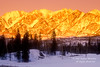 Alpenglow, Sunset, Winter, Snow, Needles Mountains, San Juan Mountains, San Juan National Forest, Durango, Colorado, United States, North America