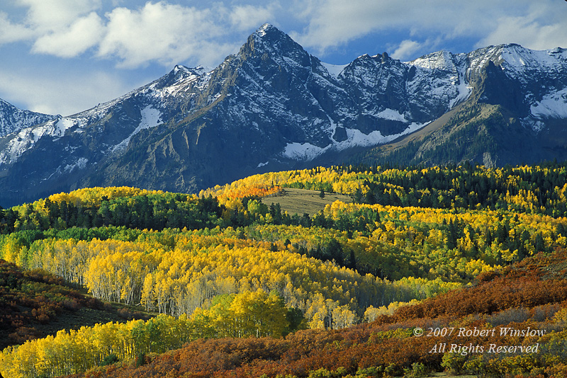 Autumn, Mount Sneffels, San Juan Mountains, Uncompahgre National Forest, Southwest Colorado