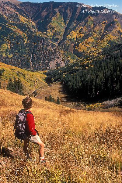 Male Hiker, La Plata Mountains, San Juan National Forest near Durango, Colorado