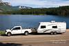 Pickup Truck and Trailer, Haviland Lake, San Juan National Forest, Colorado