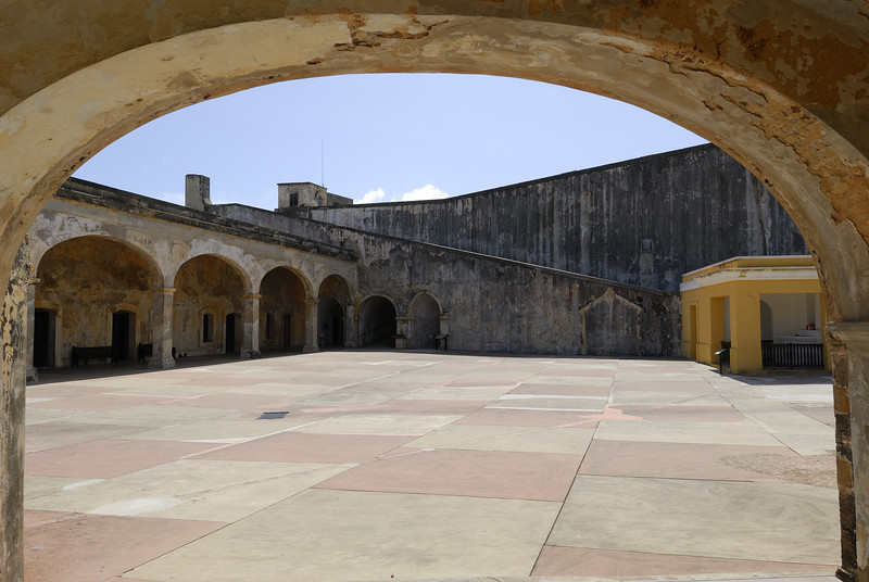 Main archway into the fort