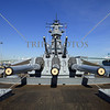 The battleship USS Iowa at San Pedro, California.