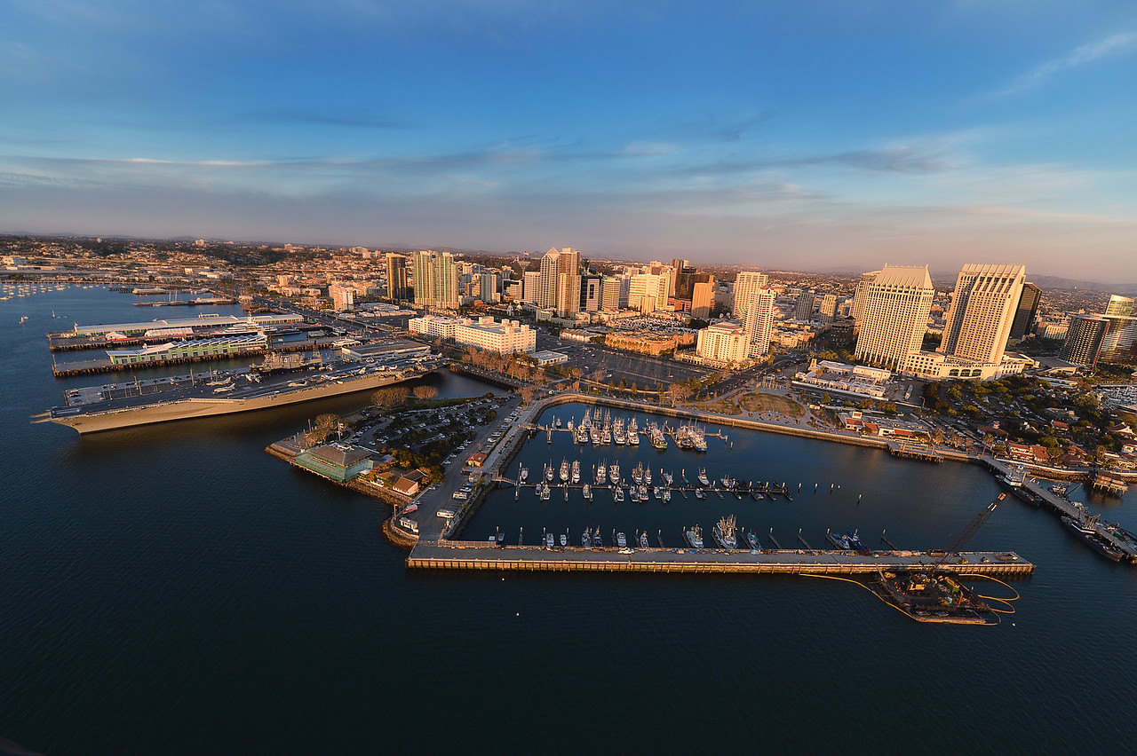 Downtown San Diego from a Helicopter