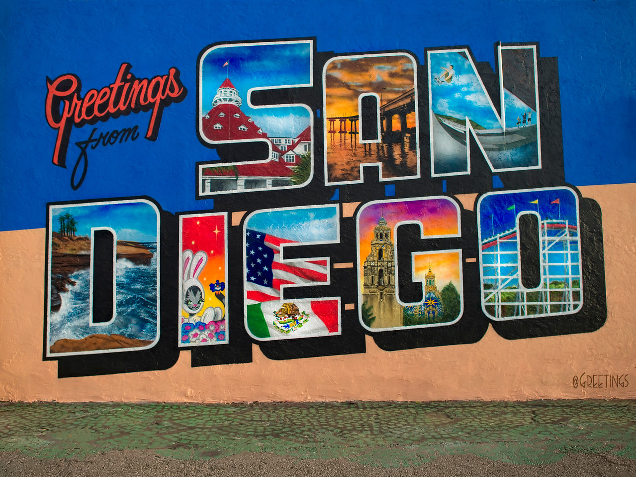 Greetings from San Diego Mural 30th and El Cajon Blvd