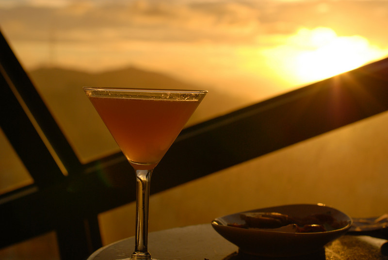 "<span id=""title"">Sunset Martini</span> As seen in the View Lounge at the Marriott. Pretty sweet view, but ridiculous prices on food/drink."