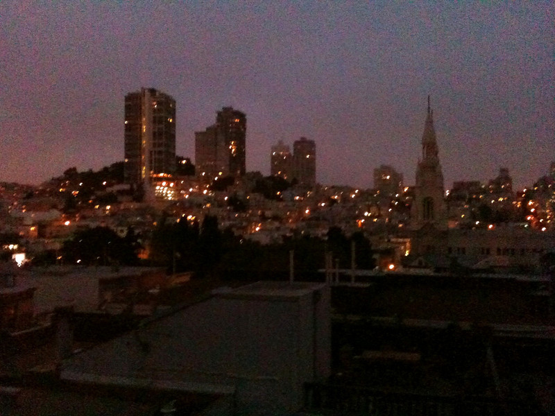 NIghttime view from the Hohorst's 3rd story roof (8.7.10)