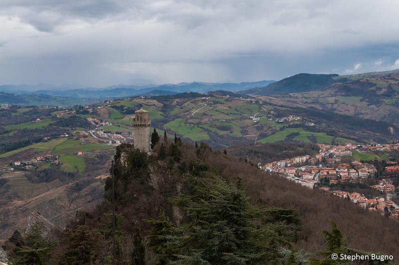 The third watchtower of travel to San Marino