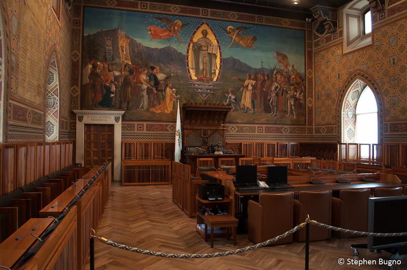 Inside the Public Palace of San Marino