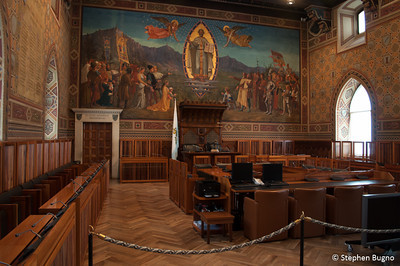 Inside the Public Palace of San Marino