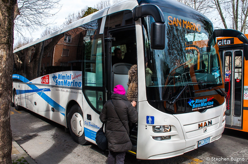 Bus from Rimini to San Marino