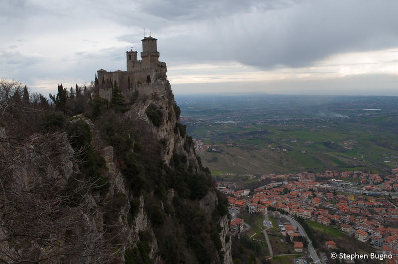 The First watchtower in San Marino