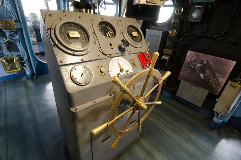 "<span id=""title"">Helm</span> <em>USS Midway Museum</em>"