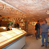 Inside a dug out opal shop in Coober Pedy