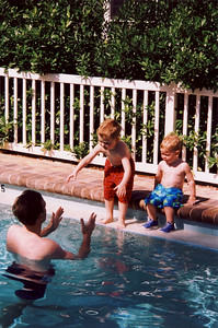 Jack Jumping in Pool