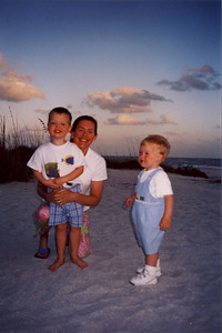 Will, Jack & Mom on Beach