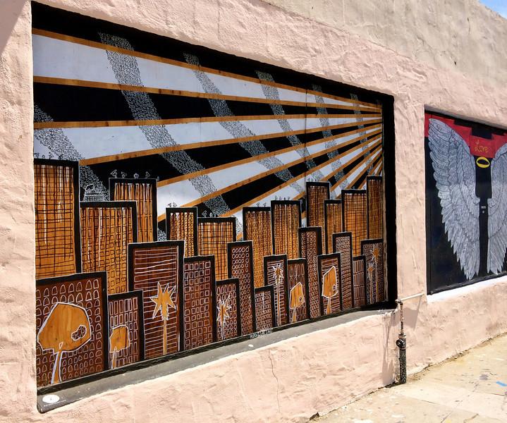 David's mural in the Funk Zone.