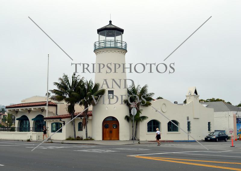 A lighthouse design building in Santa Barbara, California.