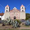The Old Mission Church building in Santa Barbara, California.