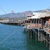 The Sterns Wharf and Pier in Santa Barbara, California.