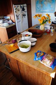 Making a little guacamole