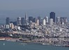 San Franciso as seen from the visitor center just over the Golden Gate Bride. (5x7)