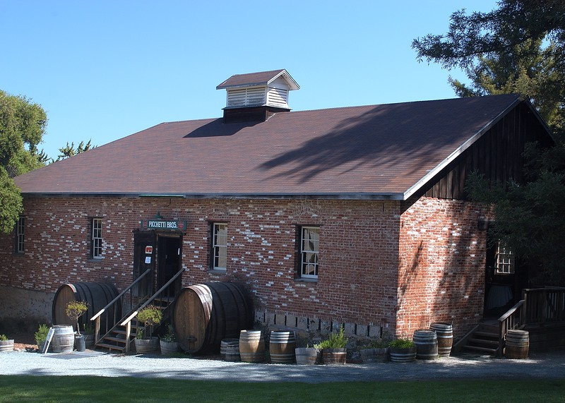 The Picchetti Winery is just a short drive from California's Silicon Valley. Located on a historic ranch, it is one of the oldest wineries in California. (5x7)