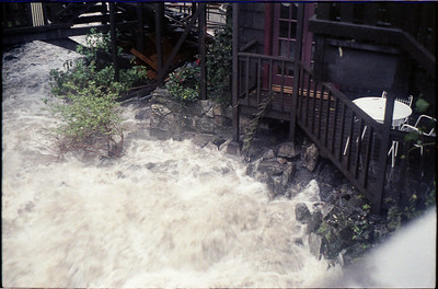 The Babbling Brook on Laurel became a raging river of white water, damaging the B&B.