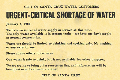 Santa Cruz Flood - January 1982
