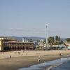 "Santa Cruz' famous Beach Boardwalk with the ""Giant Dipper"" roller-coaster."