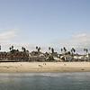 Santa Cruz beach and Boardwalk, as seen from a nearby pier.